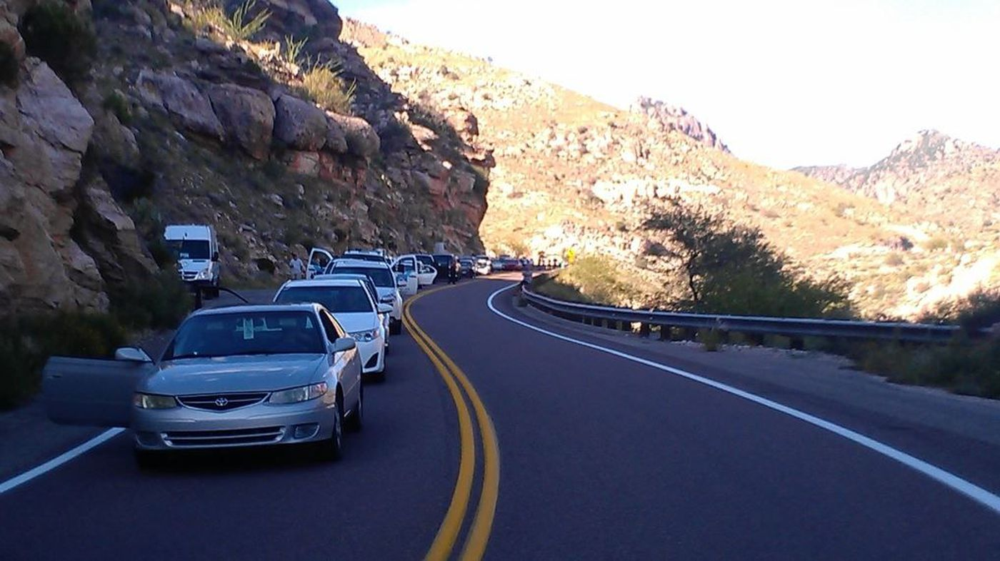 Motorcyclist airlifted after Catalina Highway crash