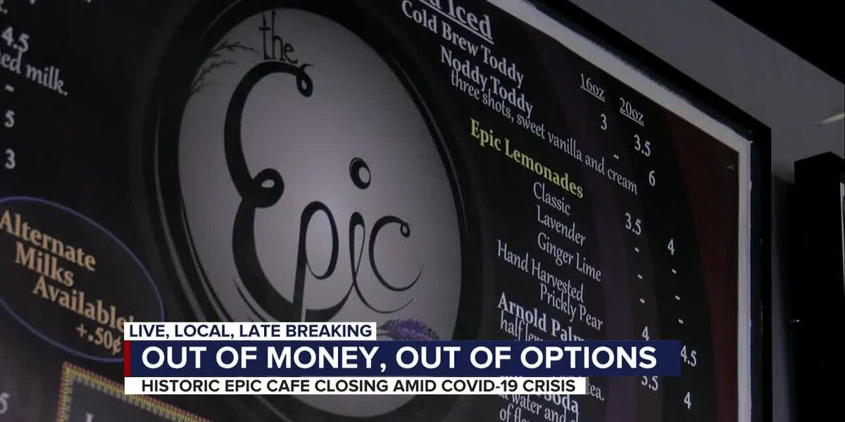 COVID-19 pandemic forces Epic Cafe to close its doors after 26 years in business
