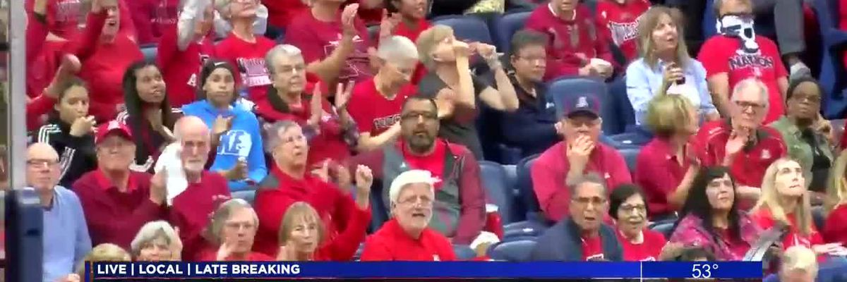 UA fans fill the stands for women's basketball