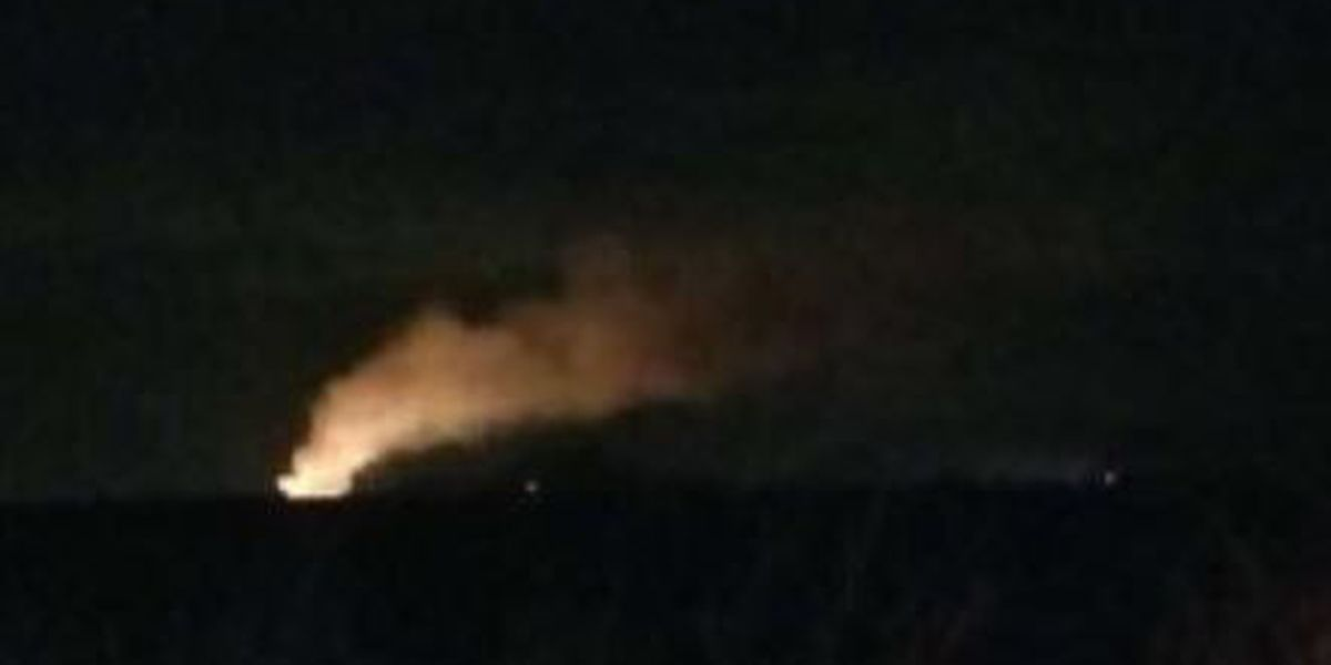 Fire burning at Marana landfill