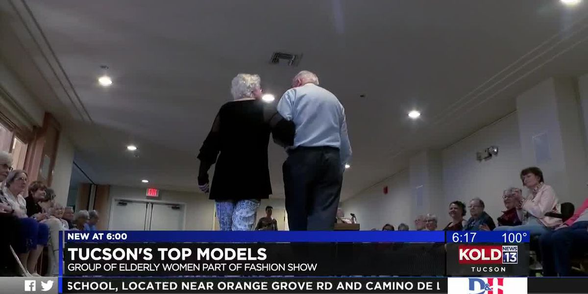 Tucson's top models, group of elderly women part of fashion show