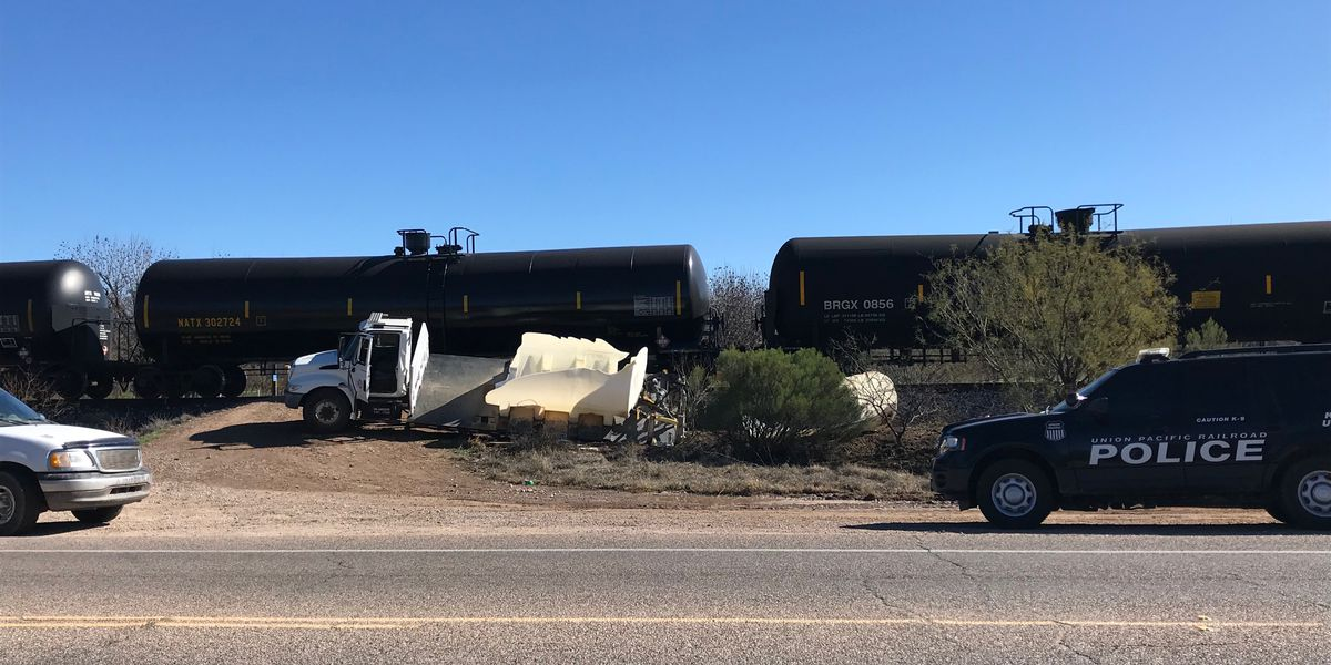Train collides with work truck in Sahuarita; no injuries reported