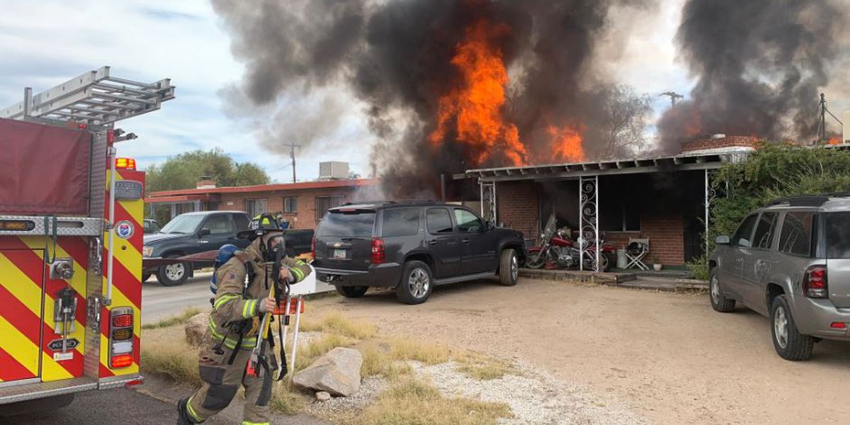 Northwest Fire responds to house fire at Flowing Wells, Wetmore