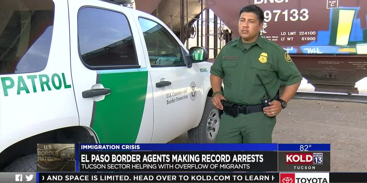 El Paso border agents making record arrests