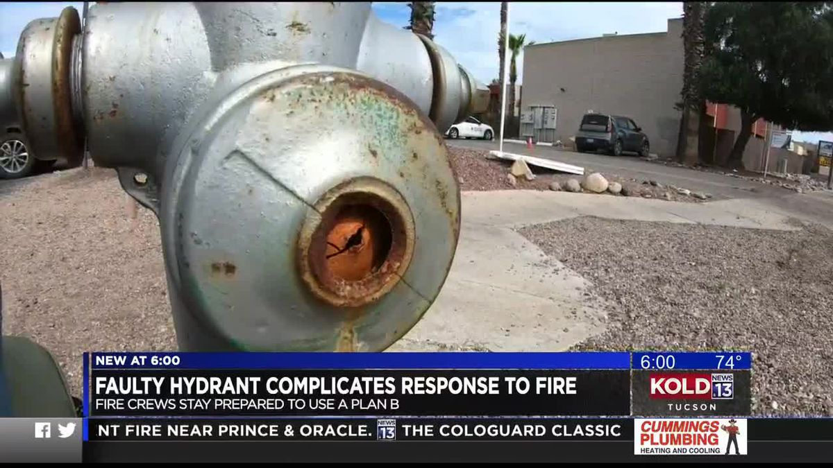 Tucson agencies discover faulty hydrant during fire fight