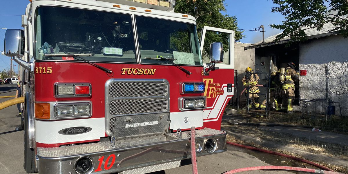 UPDATE: Firefighters respond to second fire on same South Tucson property