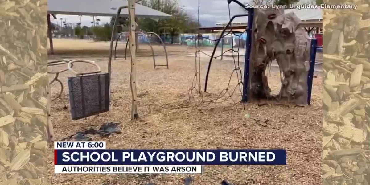 Tucson elementary school playground damaged by fire