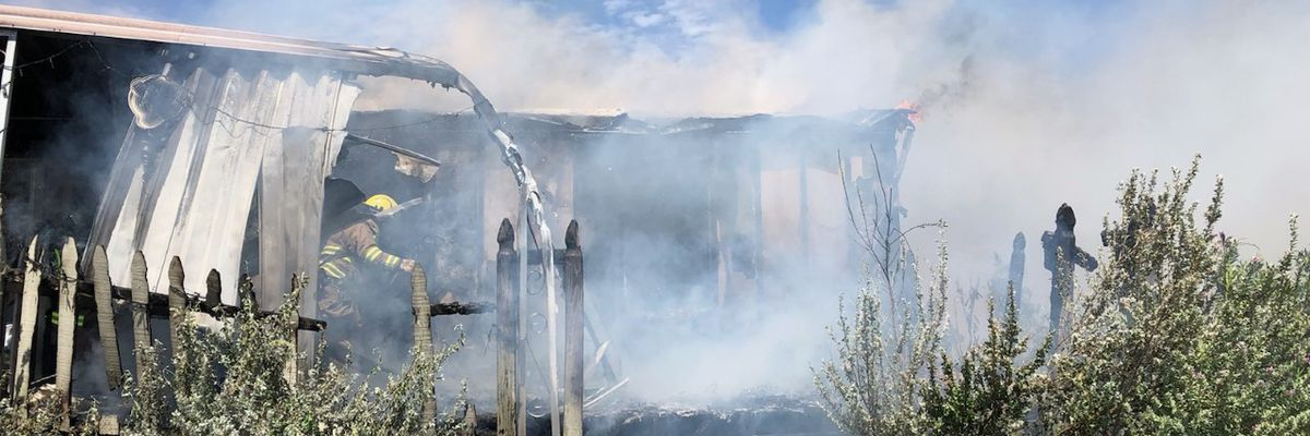Man injured after attempting to extinguish house fire
