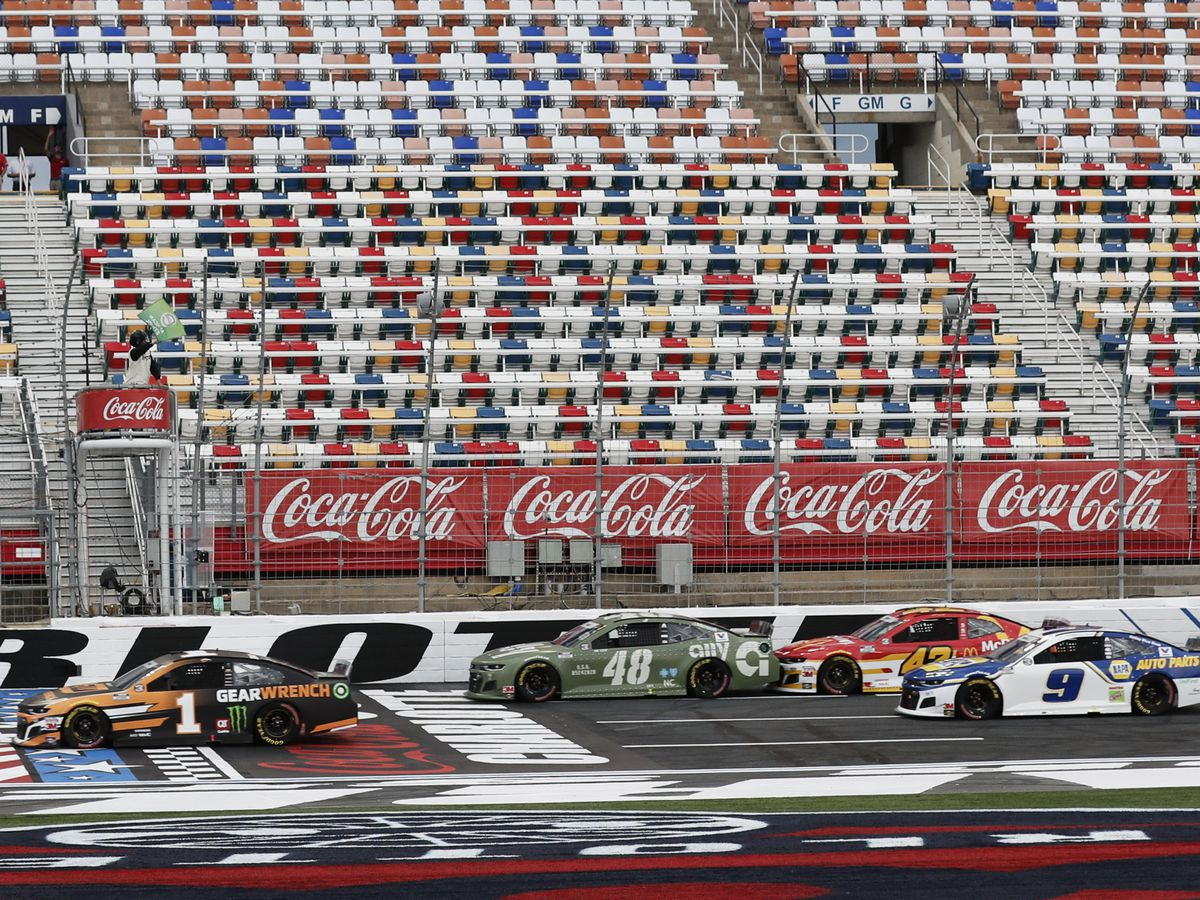 No fans, no problem: Some Coca-Cola 600 fans turn out anyway