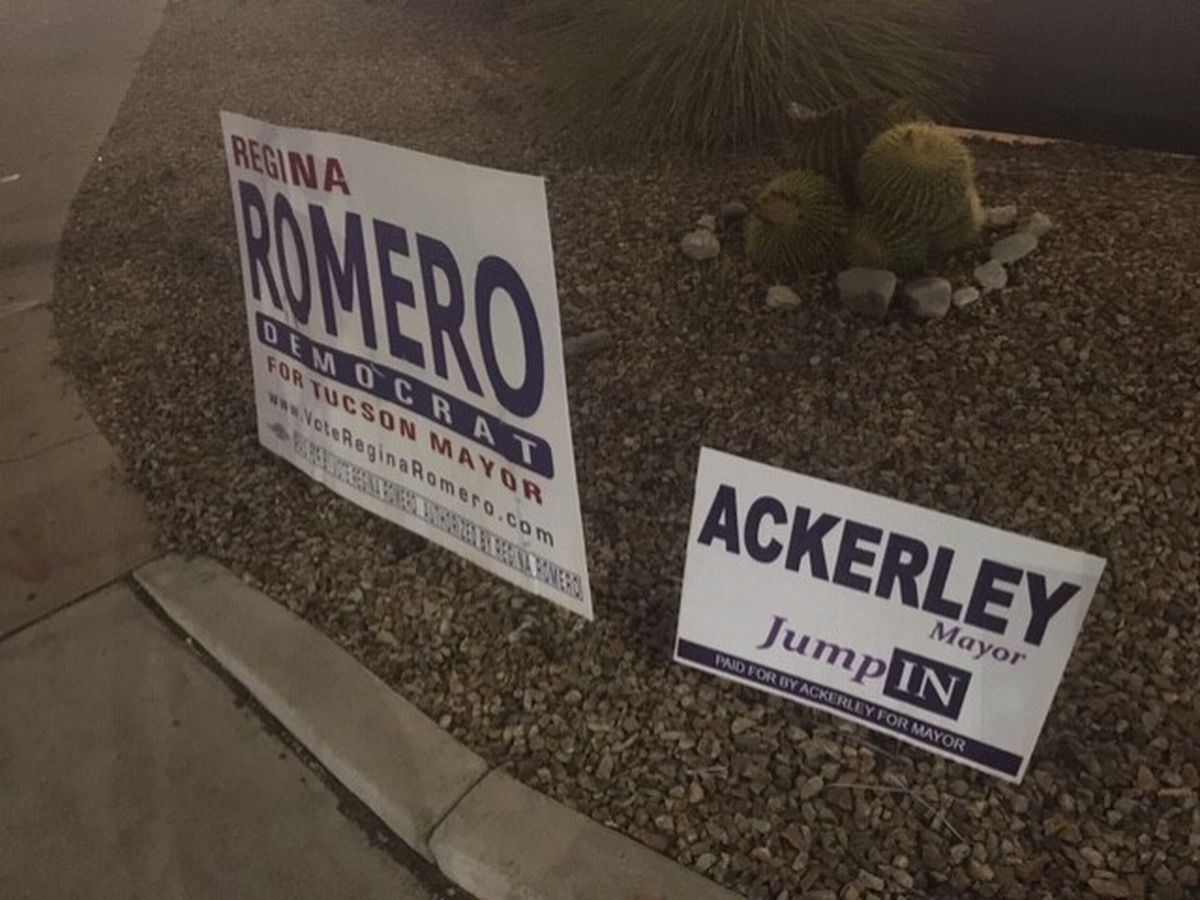 Tucson mayoral candidate challenges others after 'orchestrated removal' of campaign signs