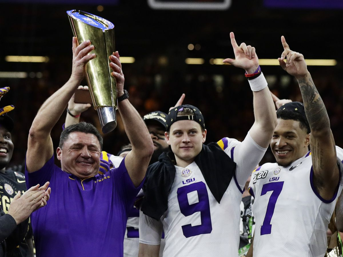 LSU wins 4th national championship with 42-25 victory over Clemson