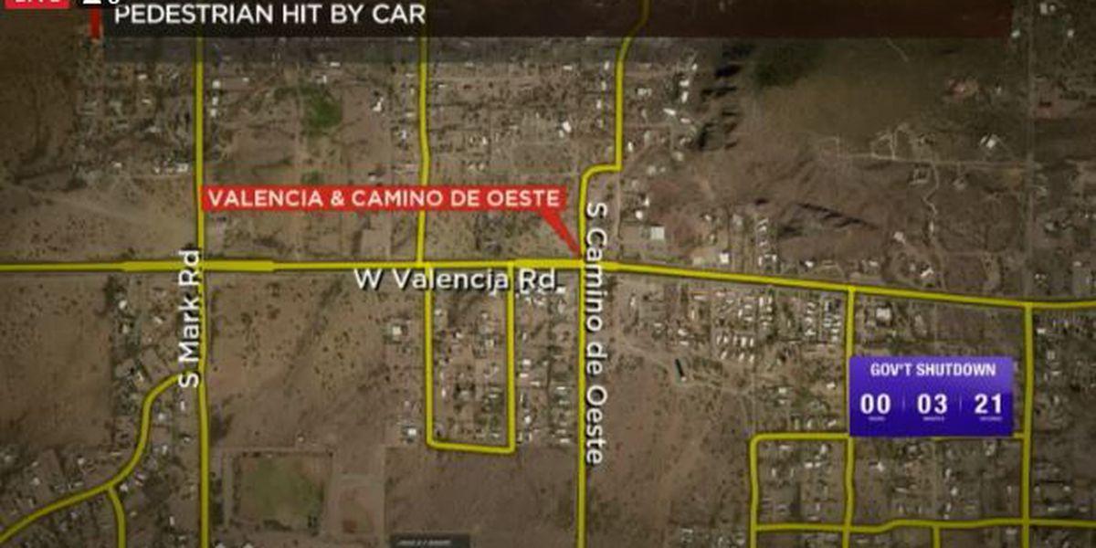 UPDATE: Crash involving pedestrian closes eastbound Valenciaat Camino de Oeste