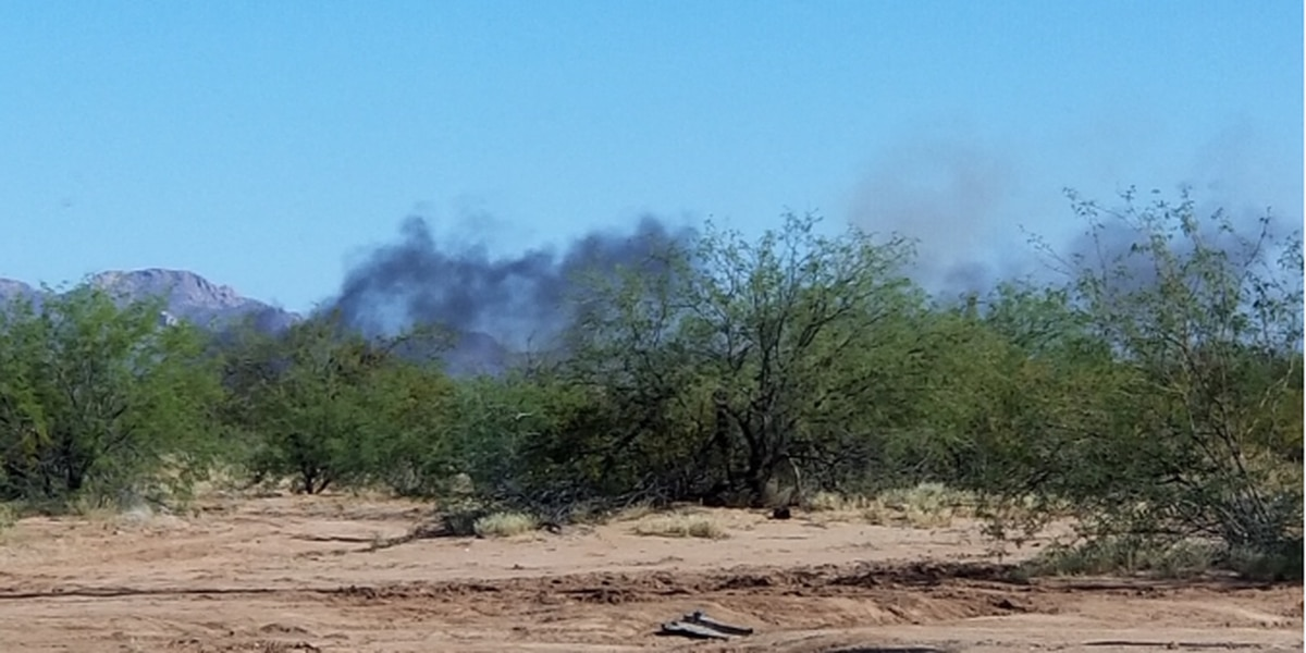 UPDATE: Car fire quickly spreads to brush fire in Avra Valley