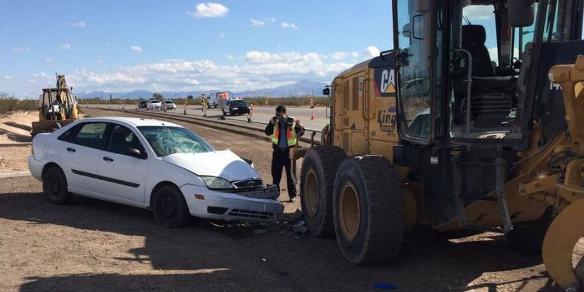 Two people injured in crash on Hughes Access Road