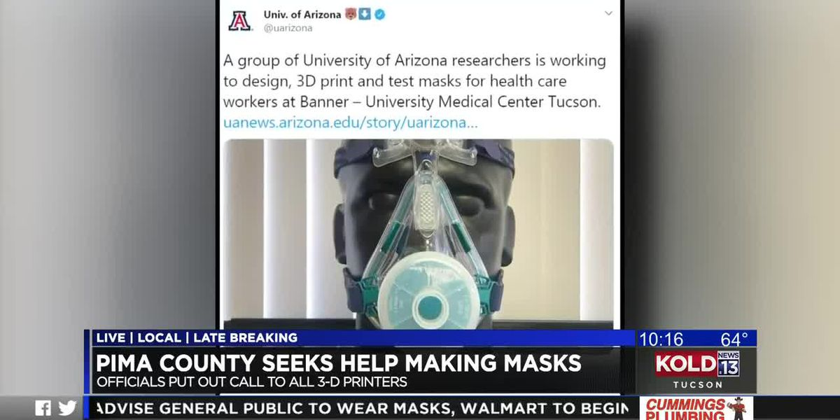 Tucson dentist fashions masks for healthcare workers