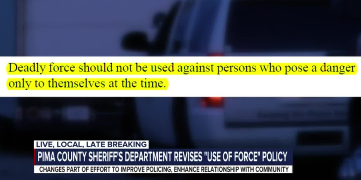 Pima County Sheriff's Department implements revised Use of Force policy