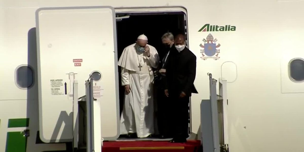 RAW: Pope Francis arrives in Baghdad