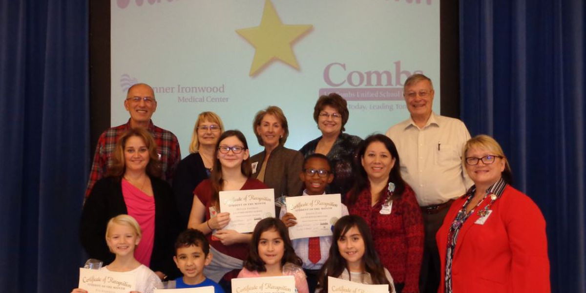 J.O. Combs Unified School District December Students of the Month