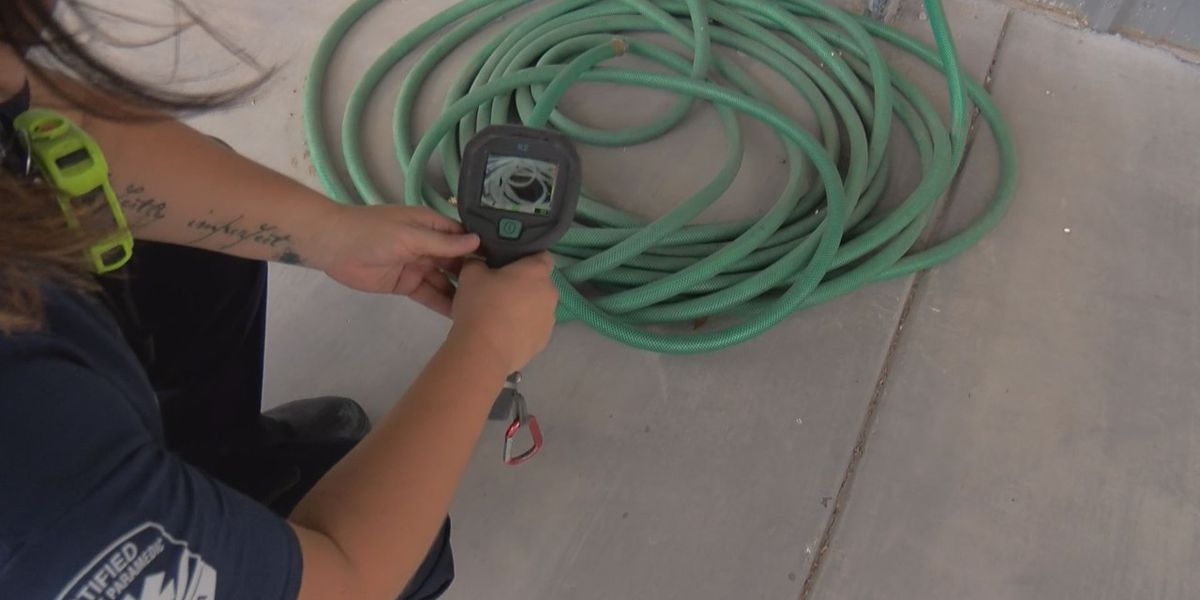 Avoid scalding water from hoses under Arizona sun
