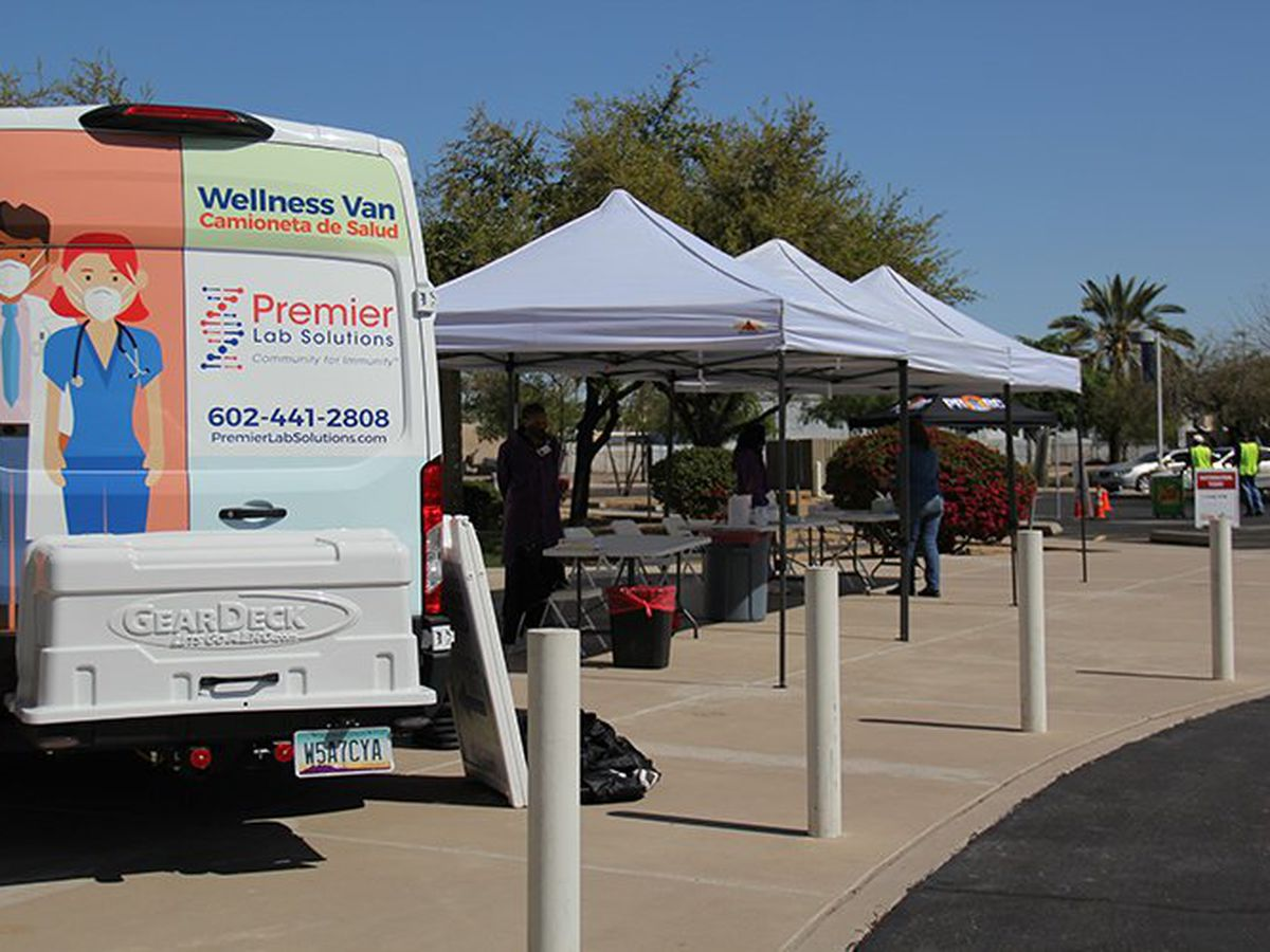 Vans hit the road to administer free COVID tests in Phoenix's underserved communities