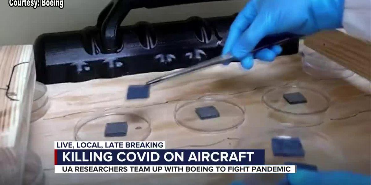 UArizona and Boeing study shows heat kills COVID-19 on airplanes