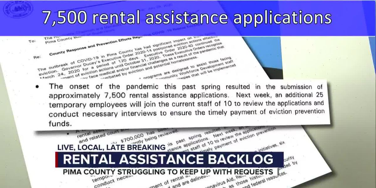 Pima County sees backlog in rental assistance processing