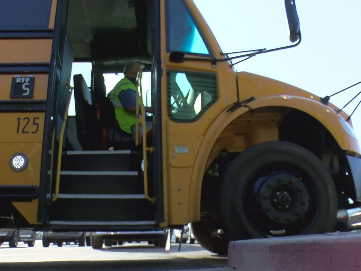 Busing students back to school safely during hybrid-learning
