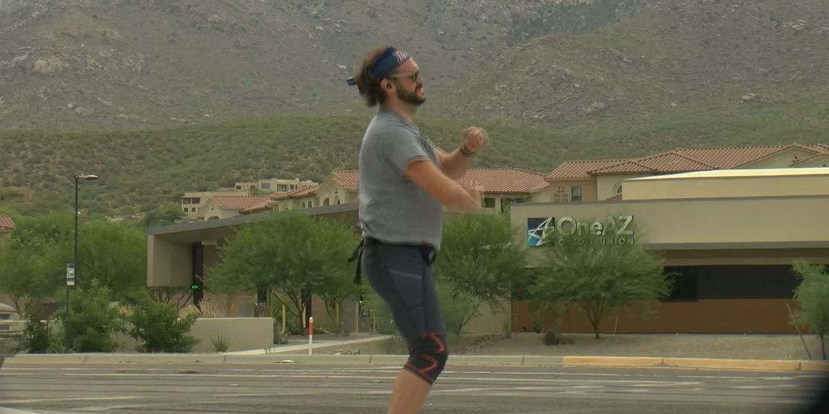 Tucson's dancing man on the north side spreads smiles