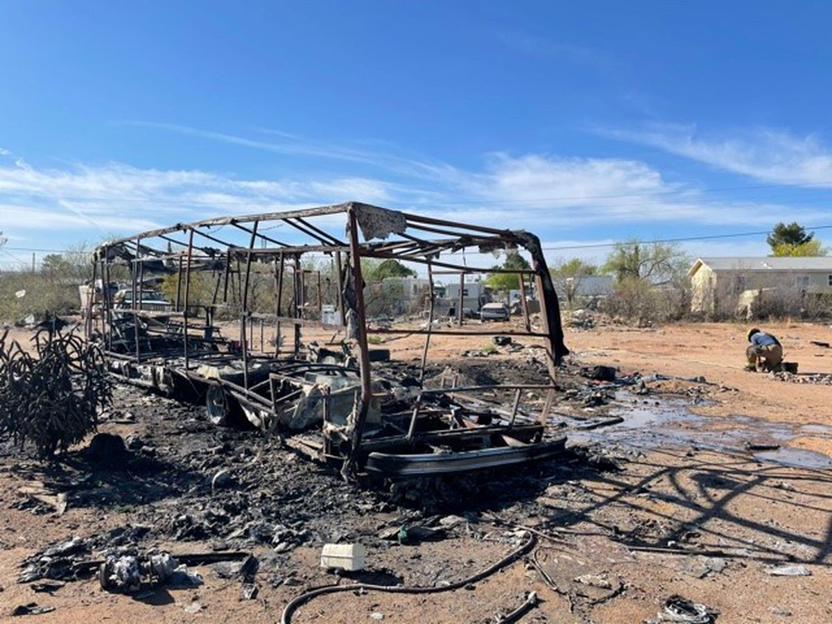 Fire crews extinguish RV fire on Tucson's west side