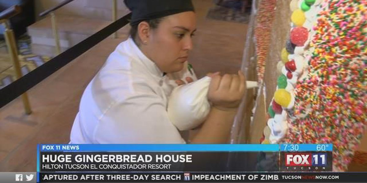 Take sneak peek at life-sized gingerbread house at El Conquistador Resort