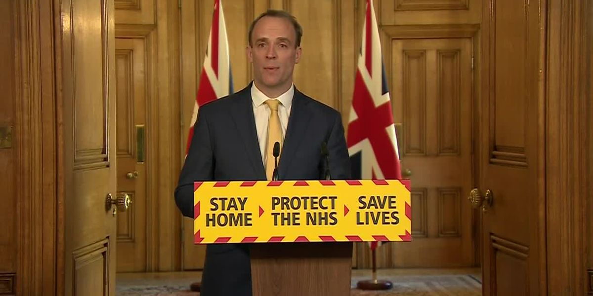 UK PM Johnon stable in ICU, Raab says