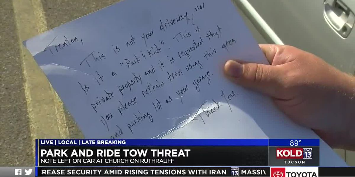 Park and Ride tow threat