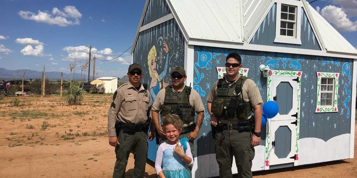 CCSO helps build playhouse for Make A Wish participant