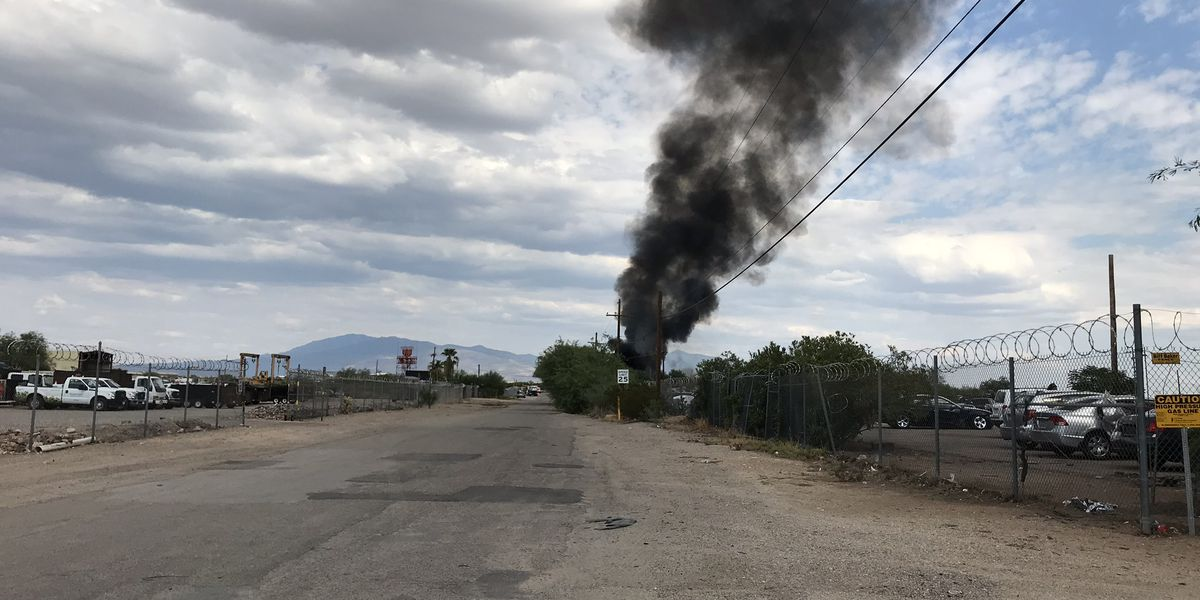 Rural Metro Fire responds to salvage yard fire on southeast side