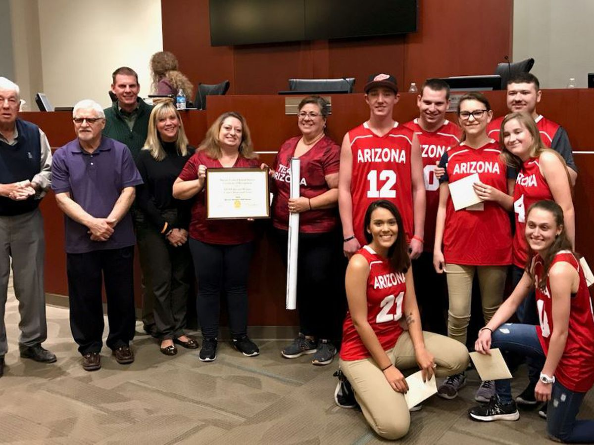 Mountain View H.S. Special Olympics Basketball Team earns Bronze at Special Olympics USA games