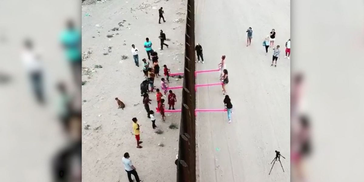 Seesaws installed between US-Mexico border fence to bring people from both sides together