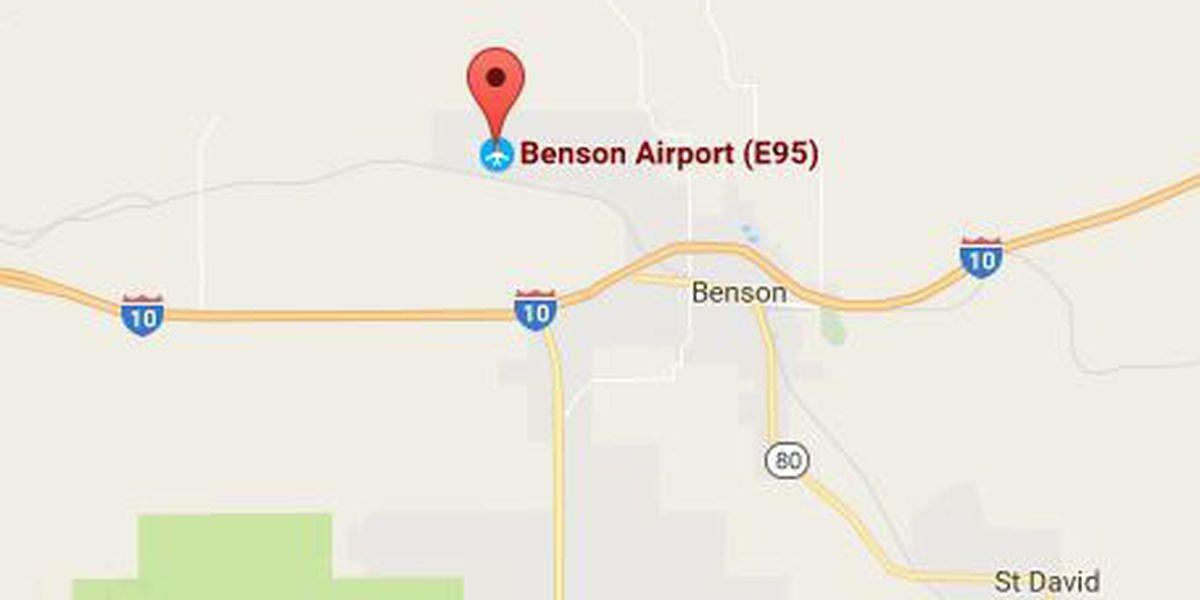 Plane overshoots runway in Benson, pilot unharmed