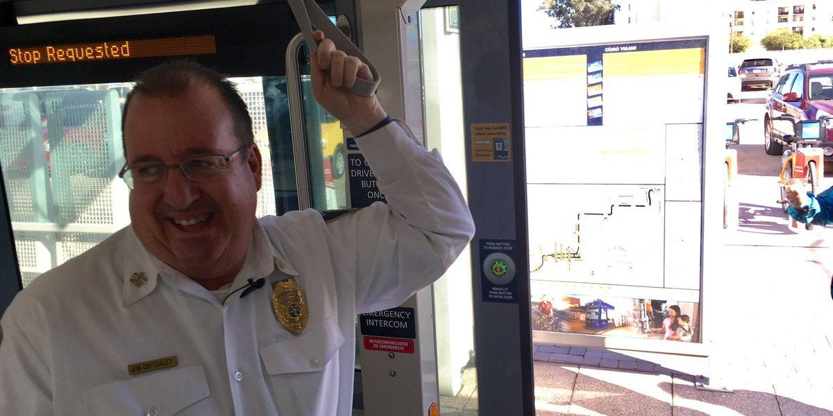 A ride on the Streetcar with retiring Tucson Fire Chief Jim Critchley