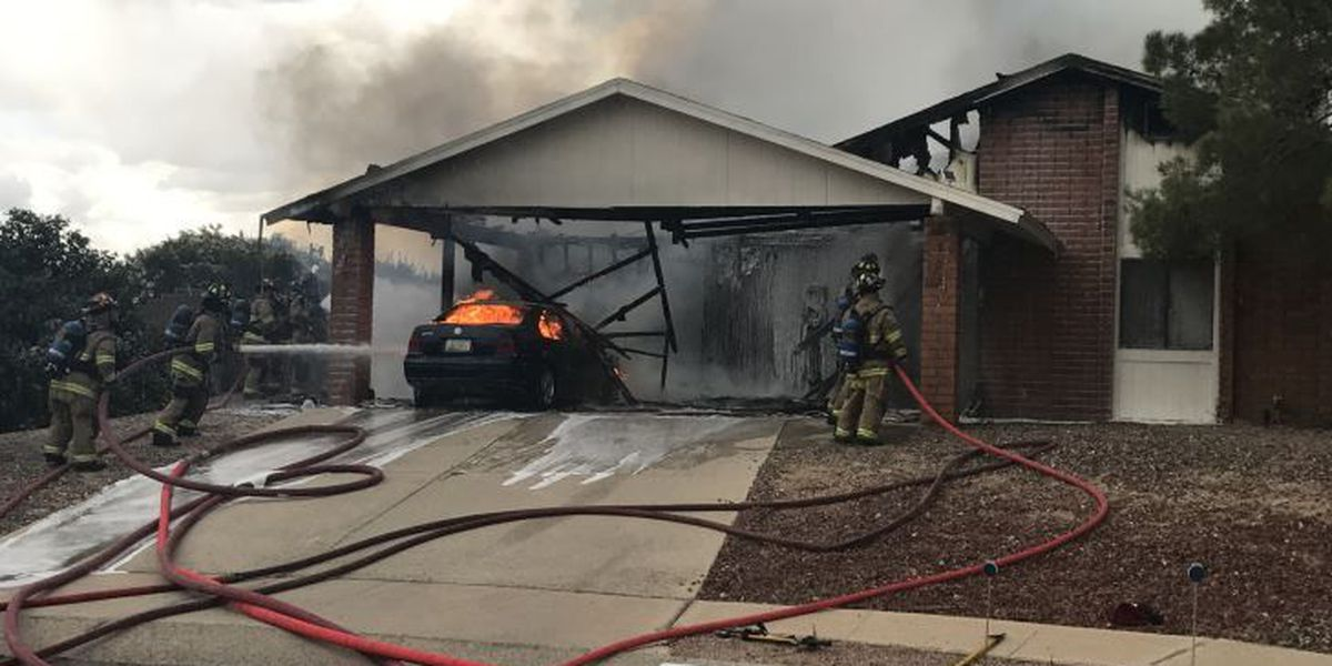 House fire near Orange Grove and Camino de la Tierra displaces three