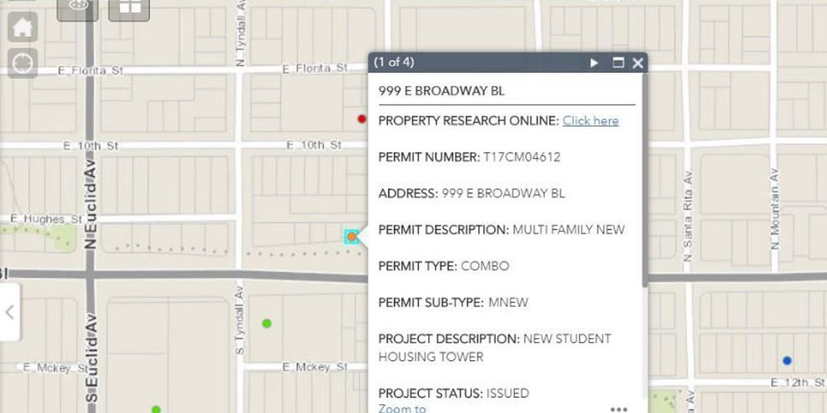 City using online map to keep you updated about projects around Tucson