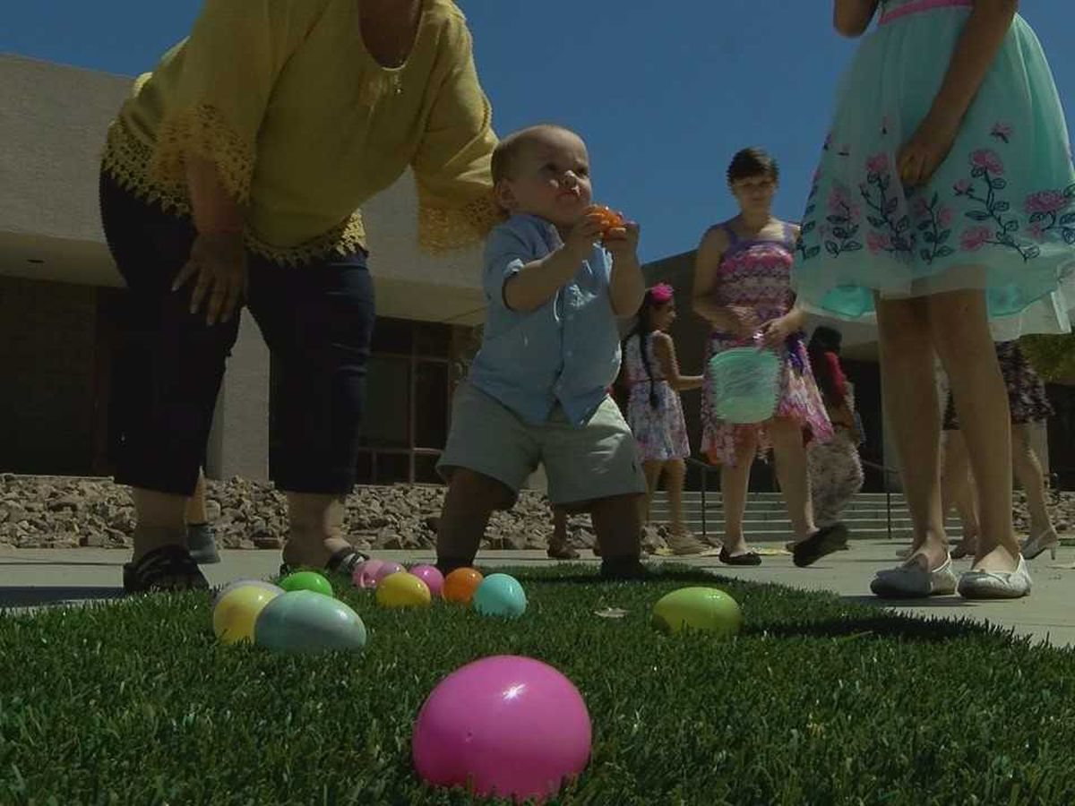 Easter traditions; egg hunts at St. Odilia Catholic Church