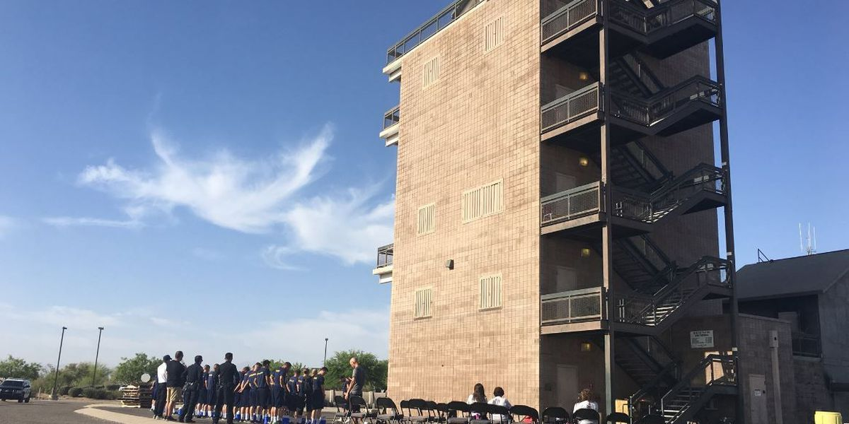 Recruits take tower challenge to honor fallen Nogales police officer