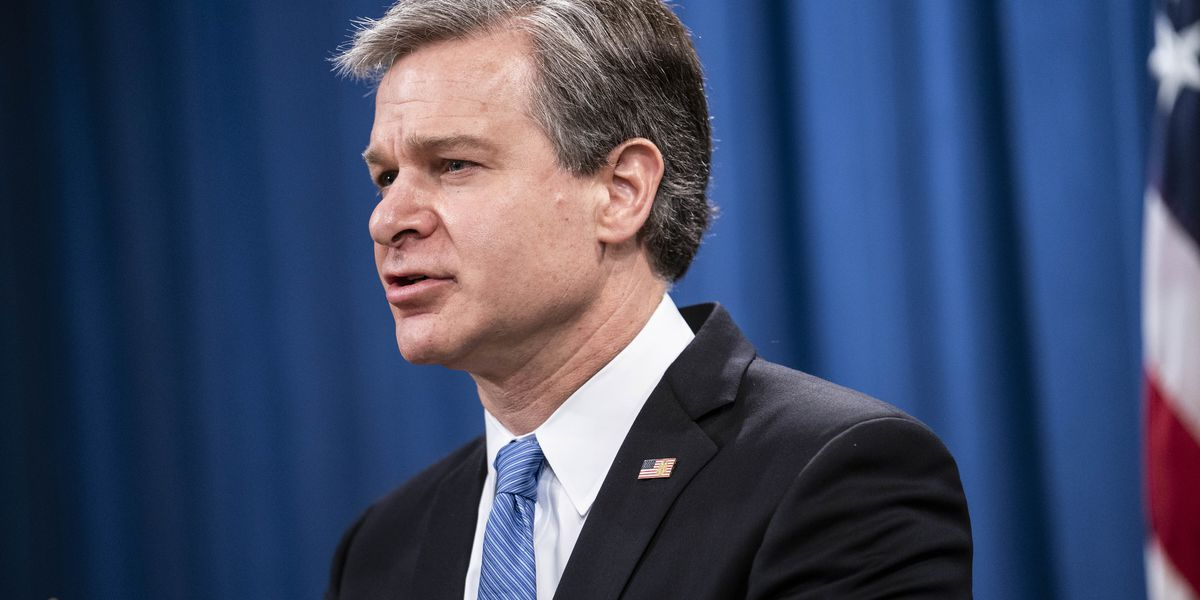 FBI chief calls Jan. 6 'domestic terrorism,' defends intel