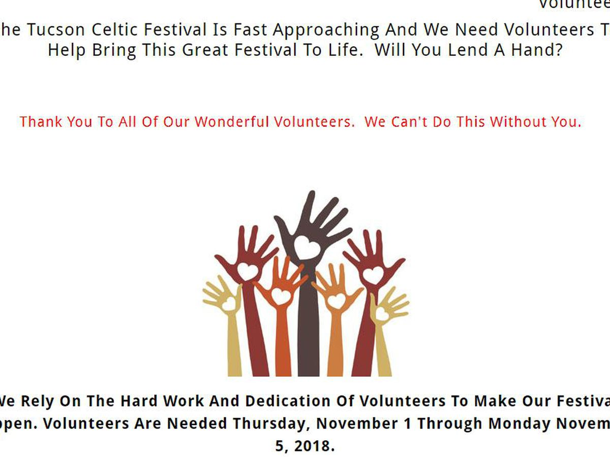 Volunteers needed for 32nd Annual Tucson Celtic Festival