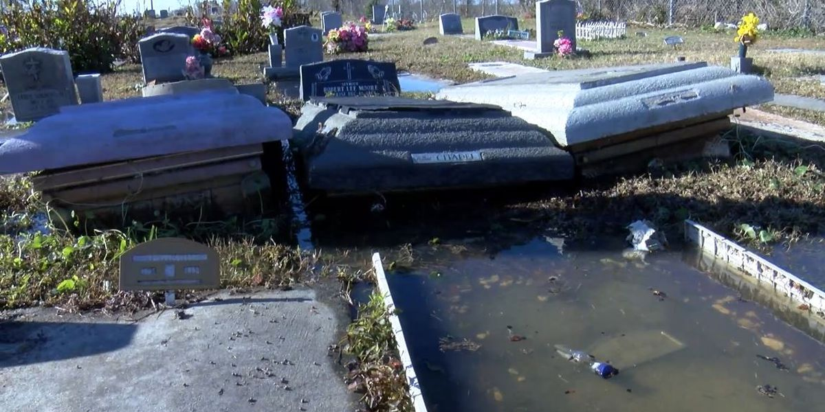 Cemetery: 'God is responsible for fixing exposed graves'