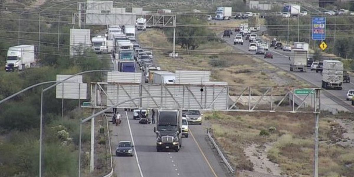 UPDATE: Lanes open as collision slows westbound traffic on Interstate 10, one person sent to hospital