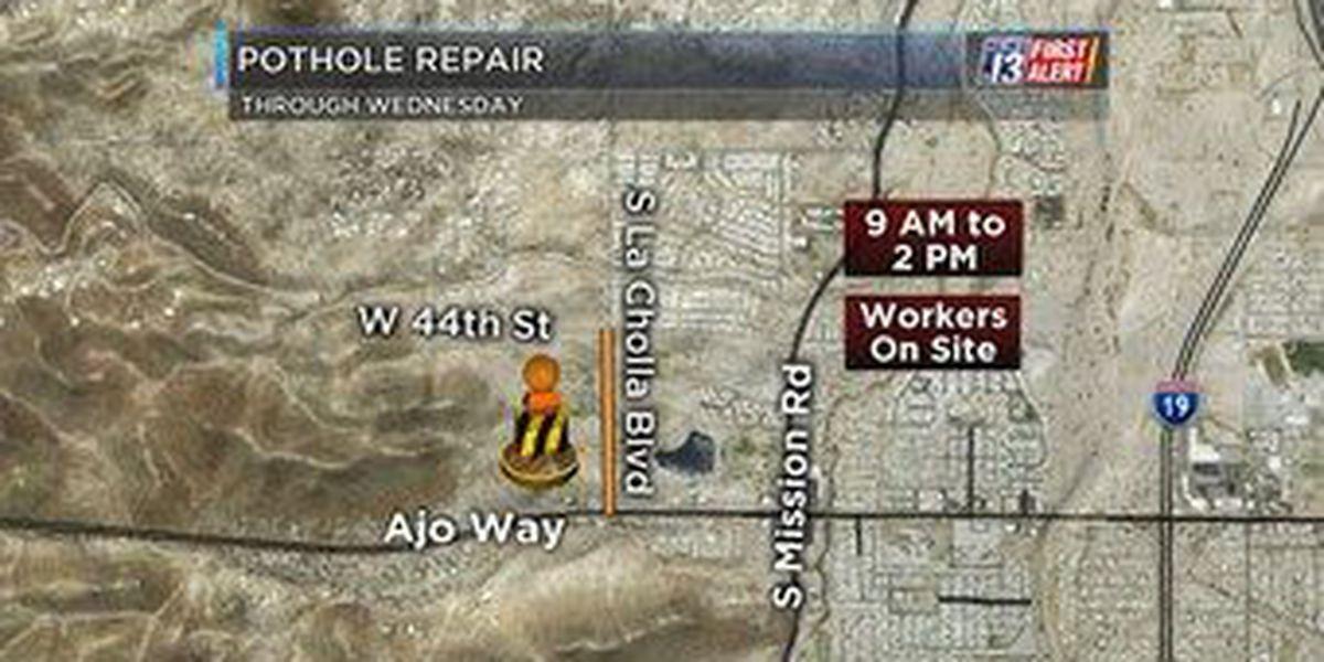 SW side pothole repair slows traffic this week