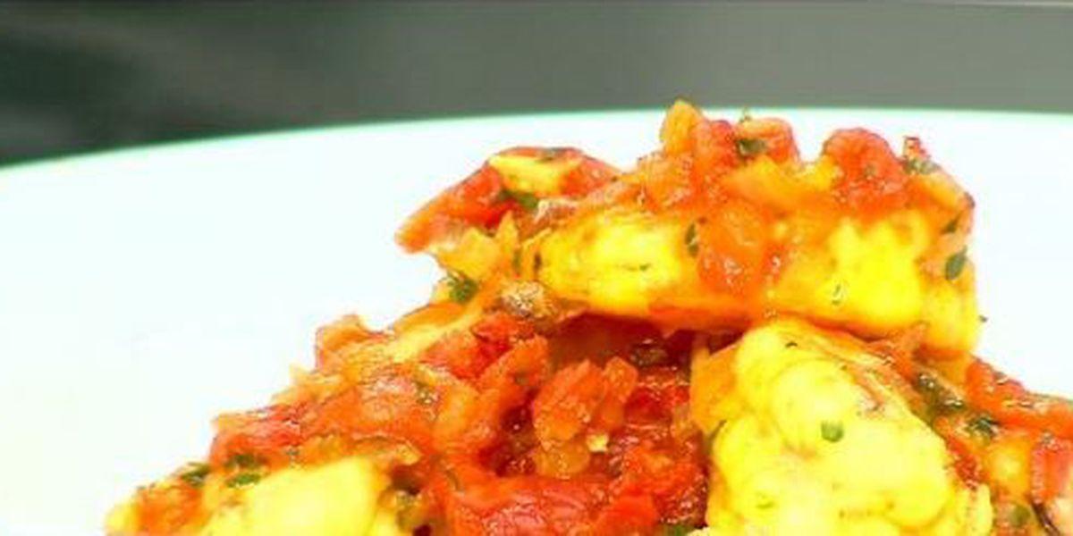Basque shrimp - At Sybil's Kitchen