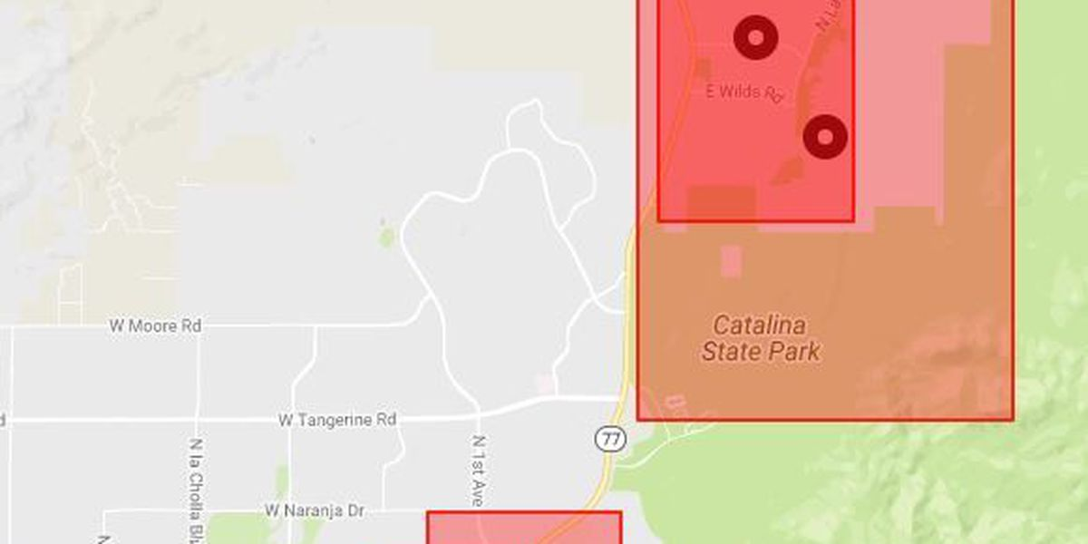 Multiple TEP outages reported north of Tucson