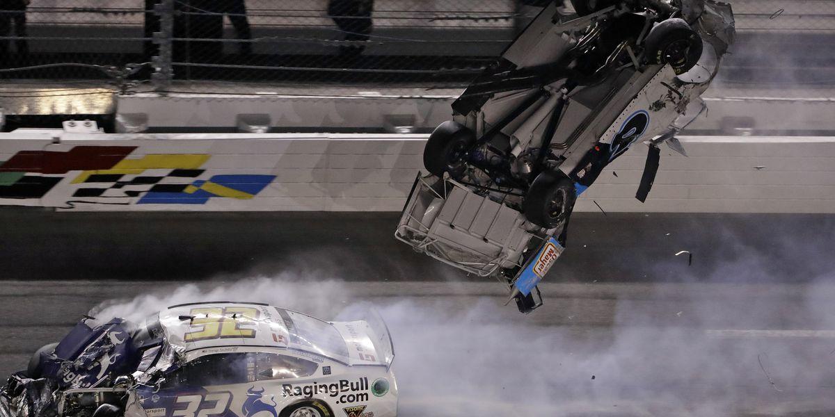 Newman 'awake and speaking' after fiery Daytona crash